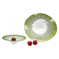 Green 24.5in. Large Art Glass Bowl