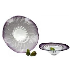 Purple 24.5in. Large Art Glass Bowl