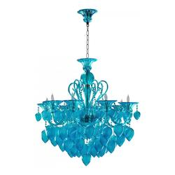 Aqua Bella Vetro 8 Light 1 Tier Chandelier
