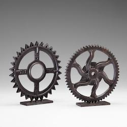 Bronze 11in. Gear Sculpture