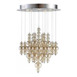 Smokey Brown Bubbles Cash 5 Light Multi Light Pendant