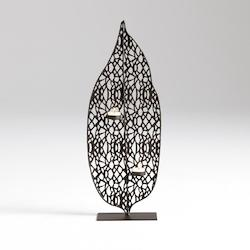 Graphite Medium Tree Leaf Candleholder