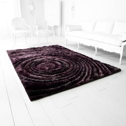 Luxor Purple Giraree Arte Viola 132In. X 85.2In. Rug