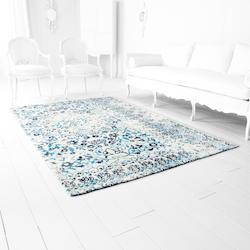 Ivory And Blue Toungoo Blue 91.2In. X 60In. Rug