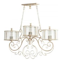 Persian White And Mystic Silver Florine 9 Light 1 Chandelier