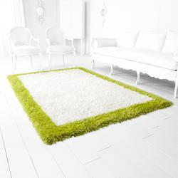 White And Lime Green Kendal 118.8In. X 94.8In. Rug