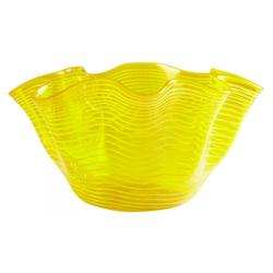 Yellow 20In. X 20In. Yellow Scallop Bowl