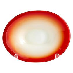 Red 9.5in. Small Vermillion Dream Plate