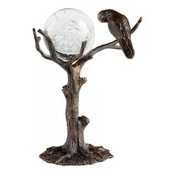 Old World Magical Wisdom 11.25 Inch High Iron and Glass Sculpture
