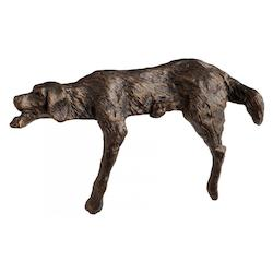 Bronze Lazy Dog 4.5 Inch High Iron Figurine