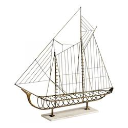 Rustic Sail Away 43.5 Inch Tall Iron Sculpture