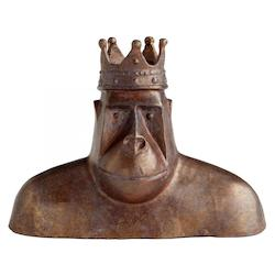 Acid Brown King Kercheck 5.75 Inch High Iron Statue