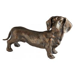 Bronze Fido 9 Inch High Iron Figurine
