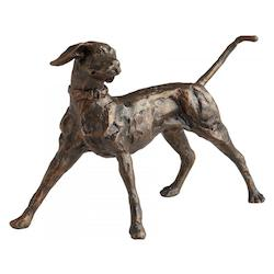 Bronze Fetch 6.75 Inch High Iron Figurine