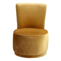 Gold Apostrophe 34 Inch Tall Wood and Foam Side Chair
