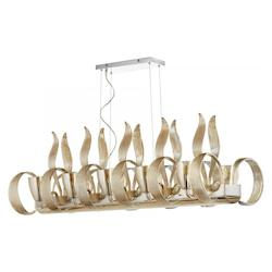 Chrome Lucille 10 Light 1 Tier Linear Chandelier