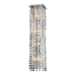 Chrome Athropolis 8 Light Pendant with Copper Shade