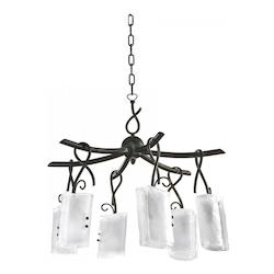 Golden Graphite 26.5in. Six Lamp Chandelier from the Somerset Collection