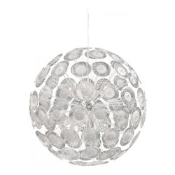 Modern Dandelion Glass Ball 10 Light Pendant