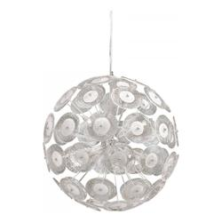 Modern Dandelion Glass Ball 6 Light Pendant