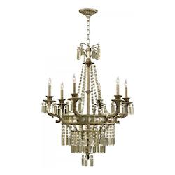 Six Light St. Regis Bronze Up Chandelier