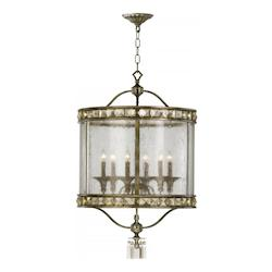 St. Regis Bronze 36.25in. Six Lamp Entry from the Buckingham Collection