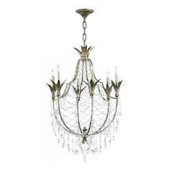 St. Regis Bronze 39.5in. Six Lamp Chandelier from the Luciana Collection