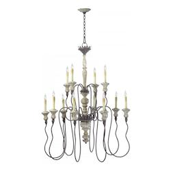 Carraige House 42.25in. Twelve Lamp Chandelier from the Provence Collection