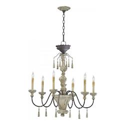 Six Light Carriage House Up Chandelier