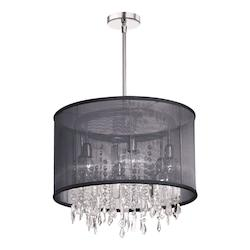 Chrome Drum Shade Pendant - 158950