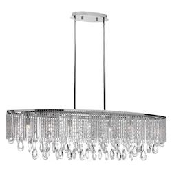 7Lt Horizontal Crystal Chandelier - 158966