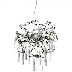 Eight Light Chrome Down Pendant - 159002