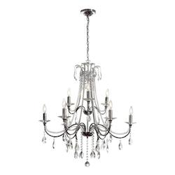 Polished Chrome Formal 9 Light Chandelier - 159036