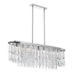 Polished Chrome Josephine 8 Light Chandelier - 159038