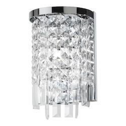 Two Light Chrome Wall Light - 159045