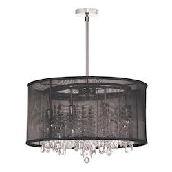 Polished Chrome Bohemian 8 Light Chandelier - 159230