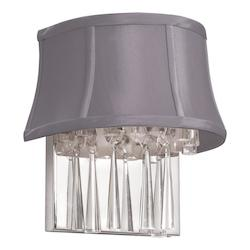 Polished Chrome Silk Glow Crystal 2 Light Wall Sconce - 159304