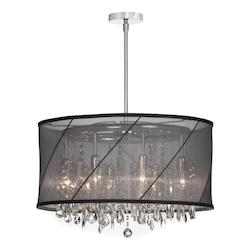 Polished Chrome Saffron 8 Light Chandelier - 159312
