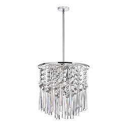 Three Light Chrome Down Pendant - 159387