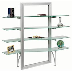 Glass Bookshelf Sv W/Fr Glass - 159574