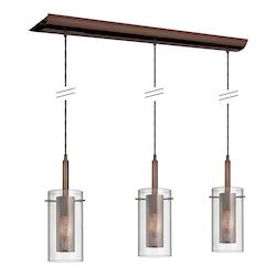 Oil Brushed Bronze Dinette 3 Light Multi Light Pendant - 159585