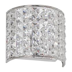 Polished Chrome Crystal Mila 1 Light Ada Compliant Bathroom Sconce - 159660