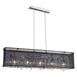 Polished Chrome Bohemian 5 Light Chandelier - 159755
