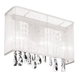Polished Chrome Bohemian 1 Light Wall Sconce - 159907