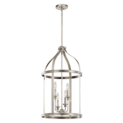 Classic Pewter Steeplechase 2-Tier Chandelier With 4 Lights