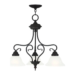 Bronze Coronado 3 Light Semi-Flush Ceiling Fixture