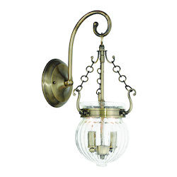 Antique Brass Everett 2 Light Wall Sconce