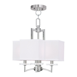Brushed Nickel Woodland Park 4 Light Semi-Flush Ceiling Fixture