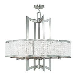 Brushed Nickel Grammercy 8 Light 1 Tier Crystal Chandelier