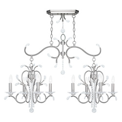 Brushed Nickel Serafina 8 Light 1 Tier Crystal Candle Style Chandelier